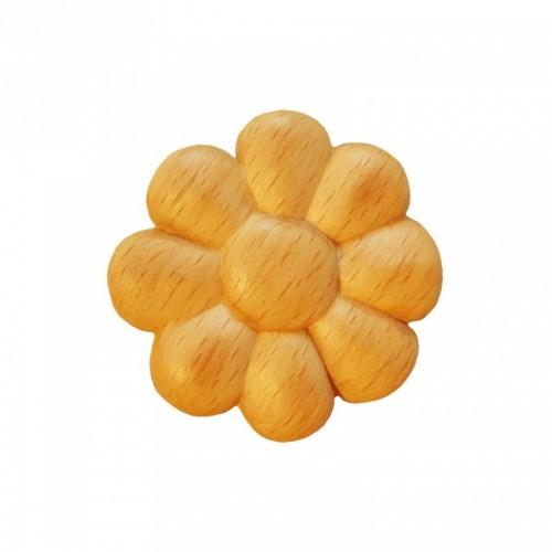 Rosace ronde en bois hêtre Ø45 RR9