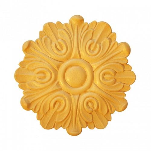 Rosace ronde Ø200  feuille d'acanthel en bois hêtre RR44