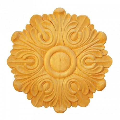 Rosace ronde Ø200 feuille d'acanthe en bois hêtre RR45