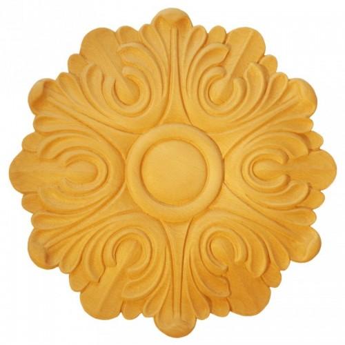 Rosace ronde Ø400 feuille d'acanthe en bois hêtre RR46