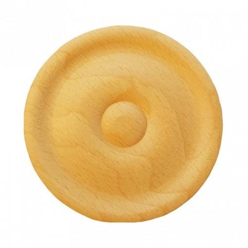 Rosace ronde Ø70 bouton en bois hêtre RR49