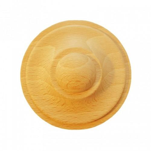 Rosace ronde Ø60 style bouton en bois hêtre RR50