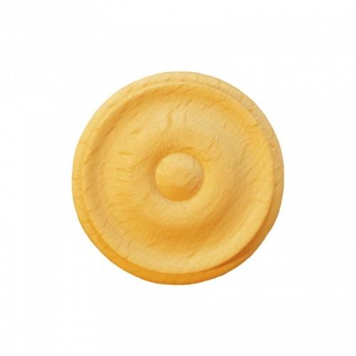 Rosace ronde Ø40 bouton en bois hêtre RR51