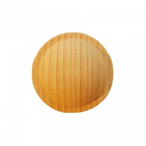 Rosace ronde Ø35 style bouton en bois hêtre RR52