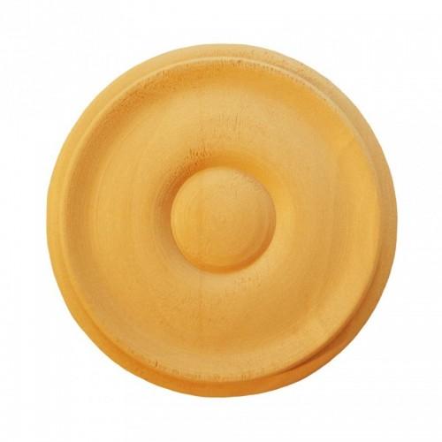Rosace ronde Ø70 style bouton en bois hêtre RR53