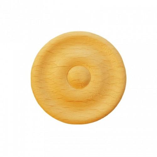Rosace ronde Ø42 bouton en bois hêtre RR54