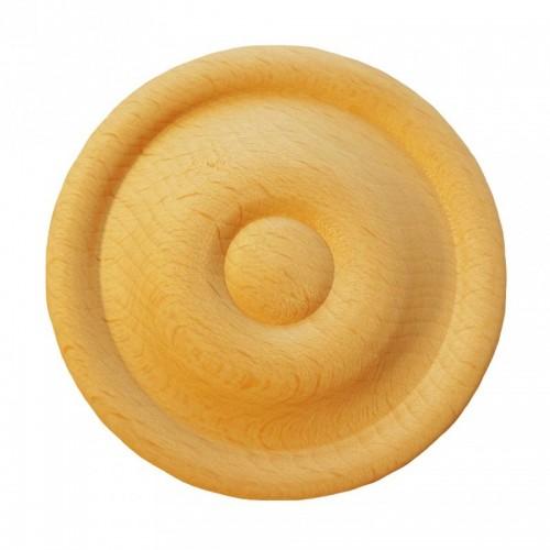 Rosace ronde Ø75 style bouton en bois hêtre RR55