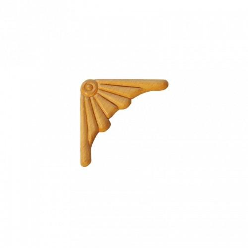 Angle éventaille 45x45 style baroque en bois ES153