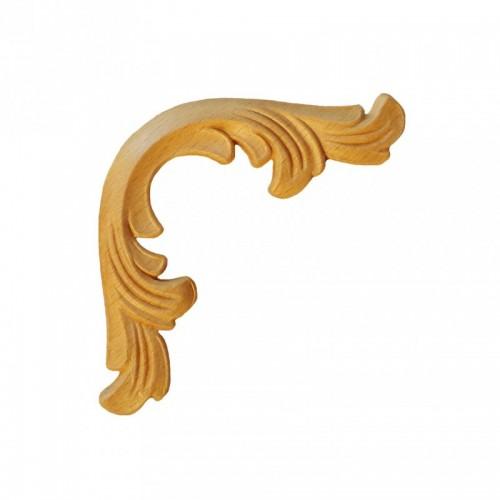 Angle style baroque 80x80 décor motif bois ES132