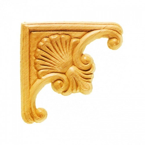Angle coquille 95x95 style baroque en bois ES147