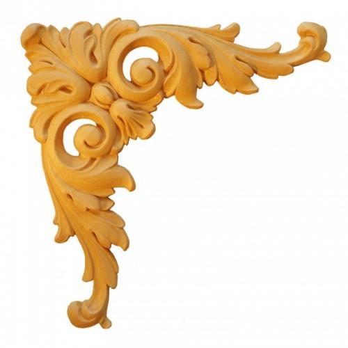 Angle feuille d'acanthe 305x305 décor bois ESN155