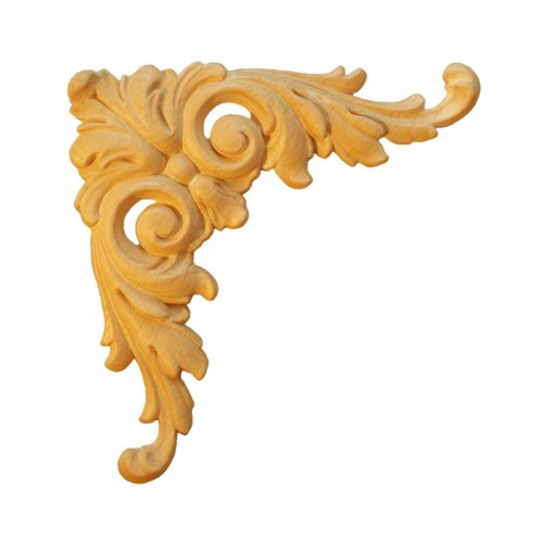 Angle feuille d'acanthe 185x185 décor bois ESN157