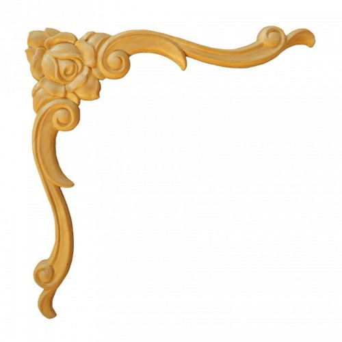Angle fleurie 255x255 style Louis XiV en bois ES157