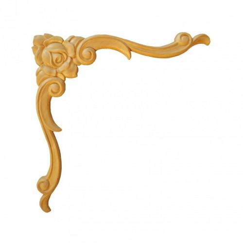 Angle fleurie 155x155 style Louis XiV en bois ES155