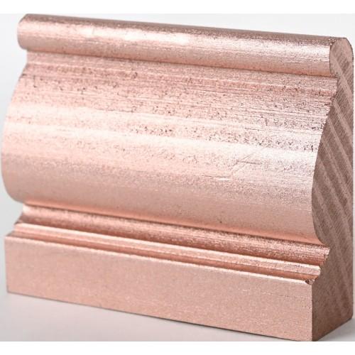 Rosace ronde Ø65  feuille d'acanthe en bois hêtre RR27