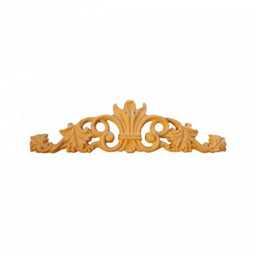 Décor cimaise feuille d'acanthe 310x85 style baroque en bois OT435