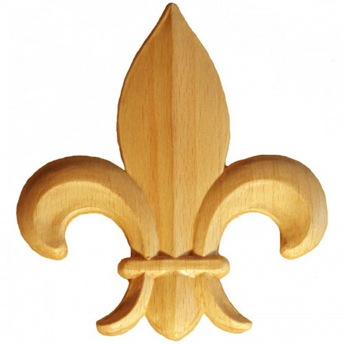 Motif fleur de lys 50x55 décor en bois OM28