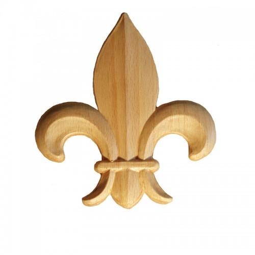 Motif fleur de lys 110x125 décor en bois OM28/C