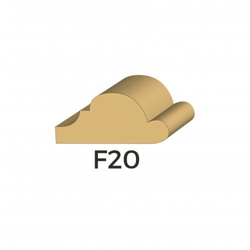 Moulure d'encadrement de style Louis XIII F20