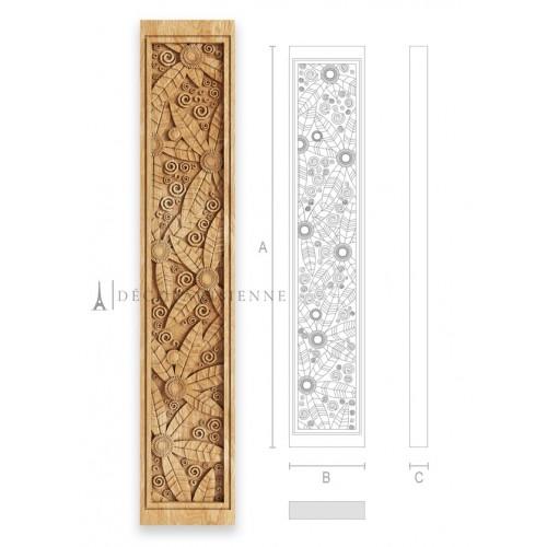 Balustre en bois sculpté