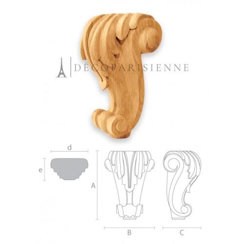 Pied de fauteuil de style en bois brut MN-018