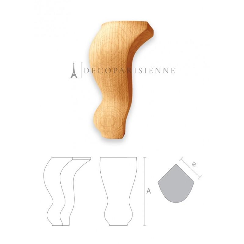 Pied de fauteuil de style en bois brut