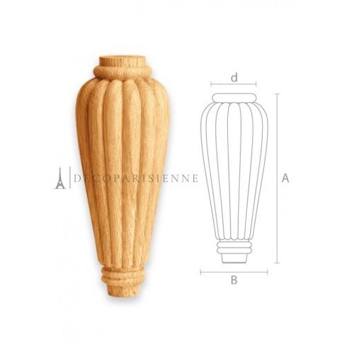 Pied de fauteuil de style en bois brut MN-044