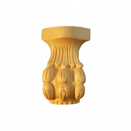 Pied griffe de lion 75x115 de table basse en hêtre brut FU5/A