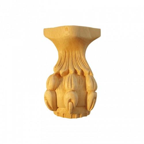 Pied griffe de lion 120x170 de table basse en hêtre brut FU5