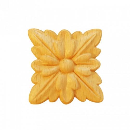 Rosace carrée 40x40 style Louis XIV en hêtre RV72