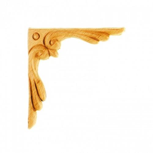 Angle décor bois 85x85 motif acanthe ES141