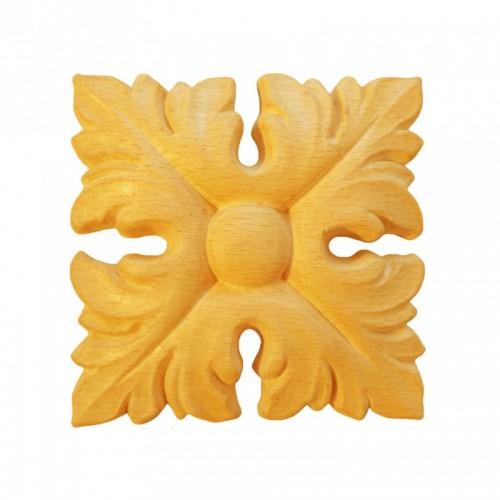 Rosace carrée 66x66 style baroque en hêtre RV111