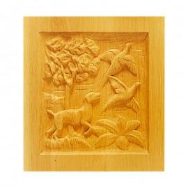 Décors en bois symétriques de style
