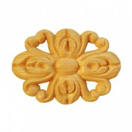 Rosaces ovales en bois de style d'époque