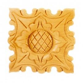 Rosaces carrées en bois de style d'époque